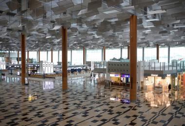 空荡荡的樟宜机场