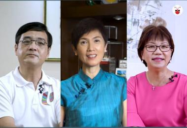 杨莉明在福建话的版本中配搭王志豪,在广东话的视频中则与潘丽萍搭档