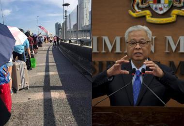 入境队伍排到桥上 马国隔离政策三天U转三次可否一次说清楚?