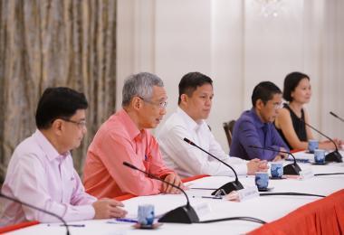 李显龙总理召开记者会宣布新内阁名单