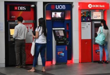 新加坡银行提款机