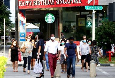 新加坡中央商业区人潮