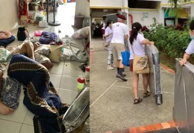 慈善团体送床褥和枕头