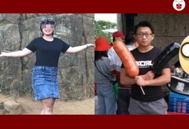 被害女学生(左)与嫌凶梁育志(右)。(红蚂蚁制图)