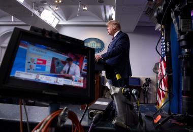 特朗普白宫记者会