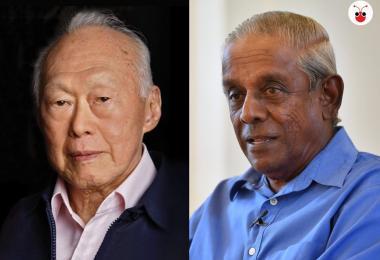 新加坡前副总理贾古玛与建国总理李光耀
