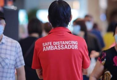社交距离安全大使