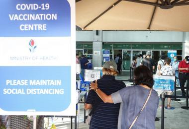 新加坡的疫苗接种中心