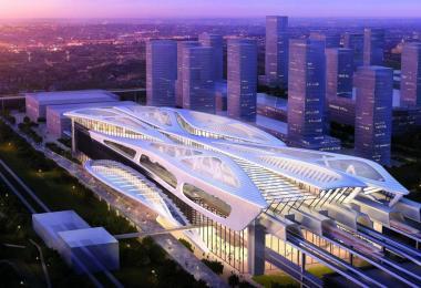 画家眼中的新隆高铁吉隆坡站
