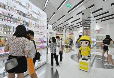 福南商场的泡泡玛特专卖店。(联合早报)