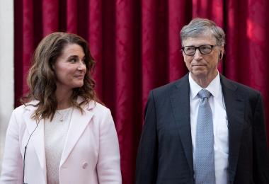 比尔盖茨与妻子梅琳达