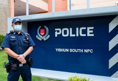 顺南邻里警局副队长林国辉