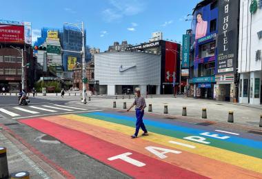 台北万华区西门町购物街