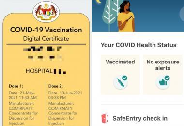 马国称新加坡或成首个承认其疫苗护照的国家,还言之过早?
