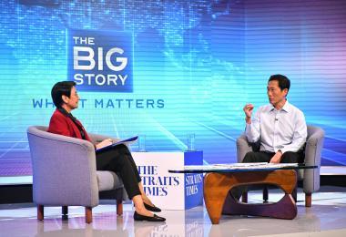 卫生部长王乙康接受《海峡时报》专访
