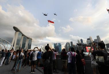 新加坡计划在国庆日当天让三分之二的人口完成(冠病)疫苗接种