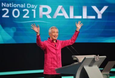 李显龙总理在8月29日国庆群众大会上演讲