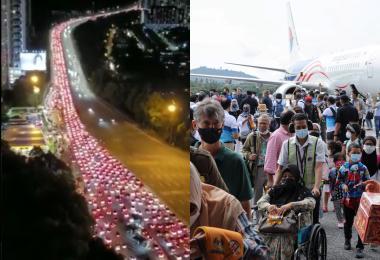 """马国""""自由日""""? 浮罗交怡和吉隆坡等地重现久违的人潮与车龙"""