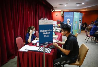 新加坡接种疫苗的诊所