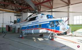 俄罗斯一架米-8直升机26日在挪威斯瓦尔巴群岛附近海域坠落。(法新社)