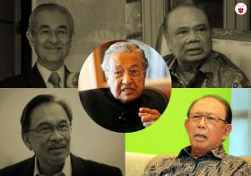 Mahathir and Musa Hitam
