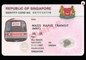 Singapore MRT Identity Card