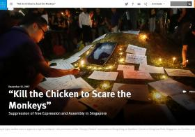 kill the chicken to scare the monkeys