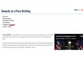 美国国务院大摆乌龙,把新加坡当做是马来西亚的一部分。(互联网)