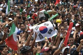 墨西哥韩国球迷世界杯