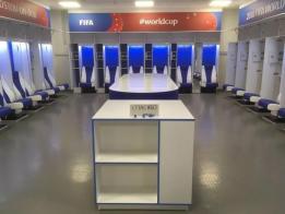 """日本队在被淘汰出局后清理了更衣室,还留下了俄语""""谢谢""""的字条。"""