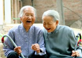 Two centenarian sisters