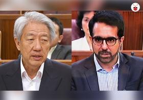 副总理张志贤和工人党秘书长今天在国会上就部长薪金问题交锋。