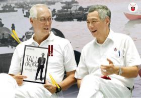 新加坡荣誉国务资政吴作栋出新书 发布会请李显龙总理站台