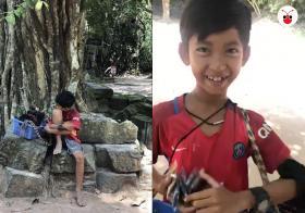 柬埔寨小男孩