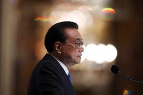 """中国总理李克强在新加坡讲座上发表""""在开放融通中共创共享繁荣""""演讲谈中美贸易战"""