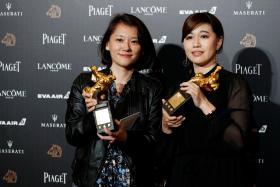 傅榆和洪廷仪获颁金马奖最佳纪录片奖