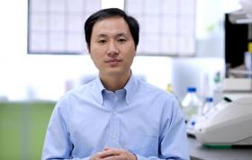 中国南方科技大学生物系副教授贺建奎宣布,带领团队完成项目,世界首例免疫爱之病基因编辑的婴儿在中国诞生。(YouTube截图)