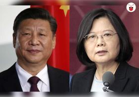 中共总书记习近平(左)和台湾总统蔡英文在一国两制议题上隔空喊话。(曾庆祥制图)