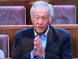 """国防部长黄永宏:""""我们不能取消国民服役,这是武装部队保卫国家的骨干。"""""""