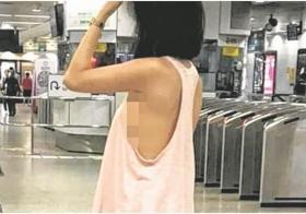 这名自称是菲律宾模特儿的女子装扮清凉,照片被挂上网后一度引发热议。