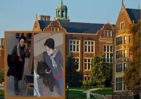 """马里兰州的陶森大学内,中国大妈拿着儿子照片,不断向路过的女生询问""""是否愿意和我儿子约会"""",吓到女学生们报警。"""