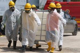 柔佛巴西古当化学废料污染,上千人吸入毒气就医