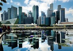 新加坡滨海湾城市风景线