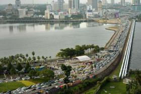 过了这条新柔长堤,就到达马来西亚啦!(海峡时报)