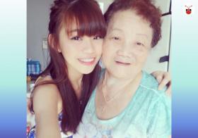 孙女林慧娟和已故阿嫲。