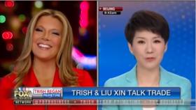 """中美贸易战番外篇 中美女主播""""辩论""""变""""专访"""""""