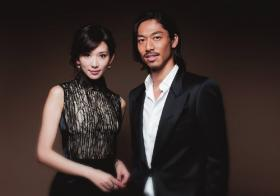 """林志玲与日本歌舞团体""""放浪兄弟""""(EXILE)成员AKIRA结婚"""