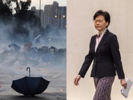 """港人串连""""三罢""""施压 林郑:示威者把香港推向危险境地"""