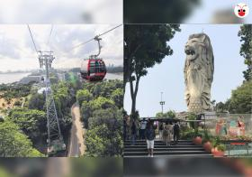 merlion and cable car