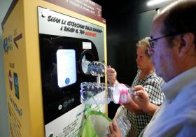 Rome ATAC gives out free metro tickets to encourage people to recycle plastic bottles.